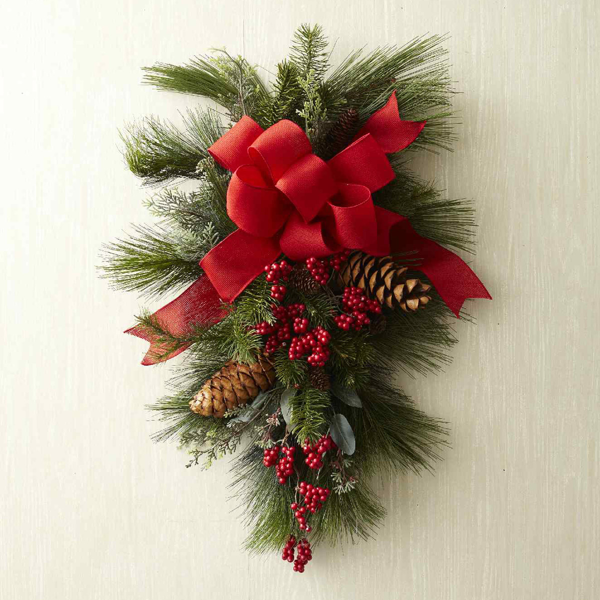 How To Make A Christmas Swag Wreath For Your Front Door Better