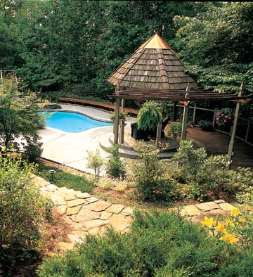 Gazebo by Pool