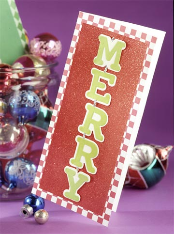Dangling Letters Christmas Card