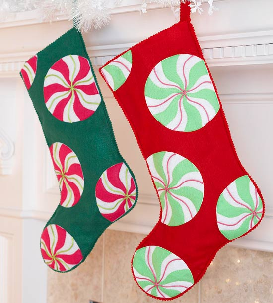 Candy Swirl Stockings