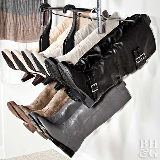 boot storage, boots, rack