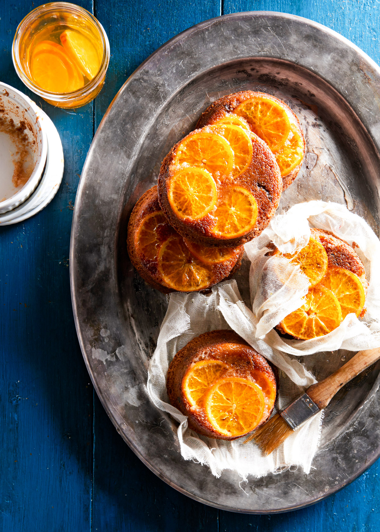 clementine fig spice cakes
