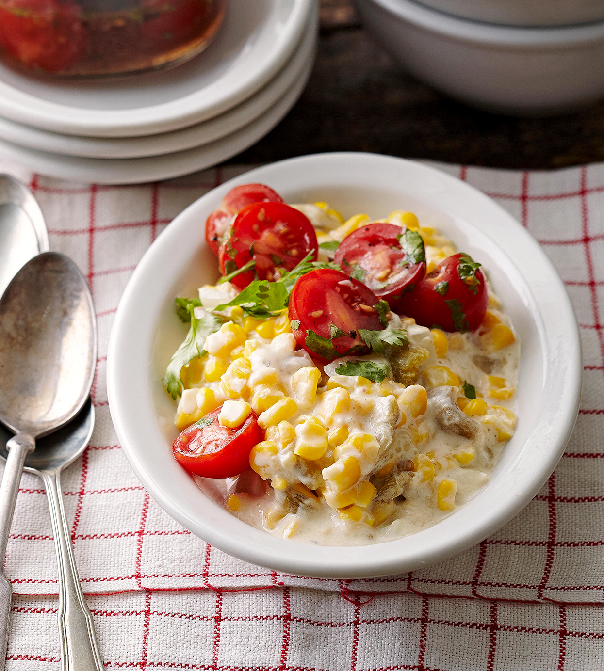 Spicy Creamed Corn with Chiles