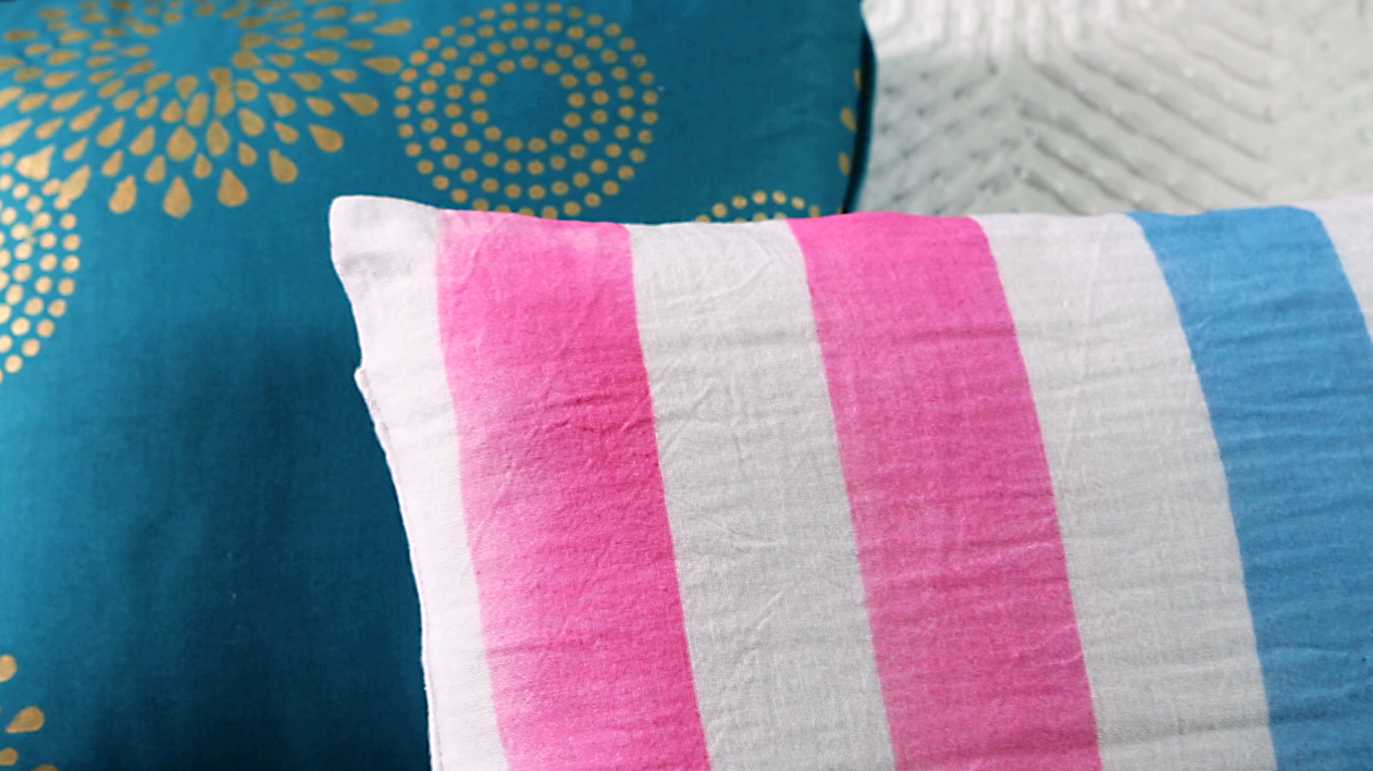 Embellish a Pillow with Painted Stripes