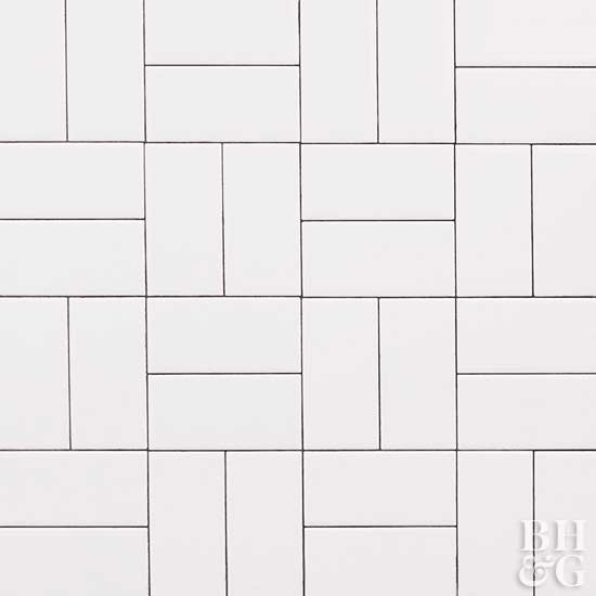 double basket weave tile pattern, subway tile, tile, white tile