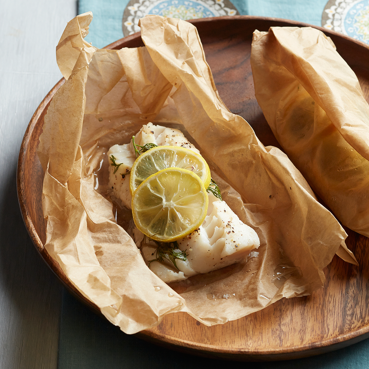 lemon and dill fish en papillote
