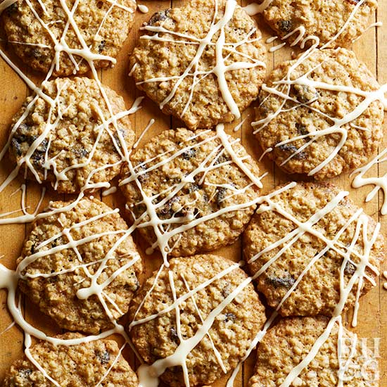 Maple-Raisin Oatmeal Cookies, cookies, raisin