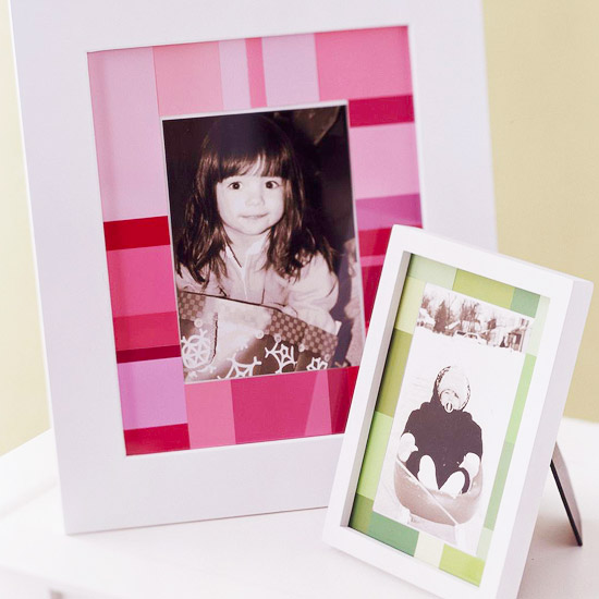 Two photo frames with photos