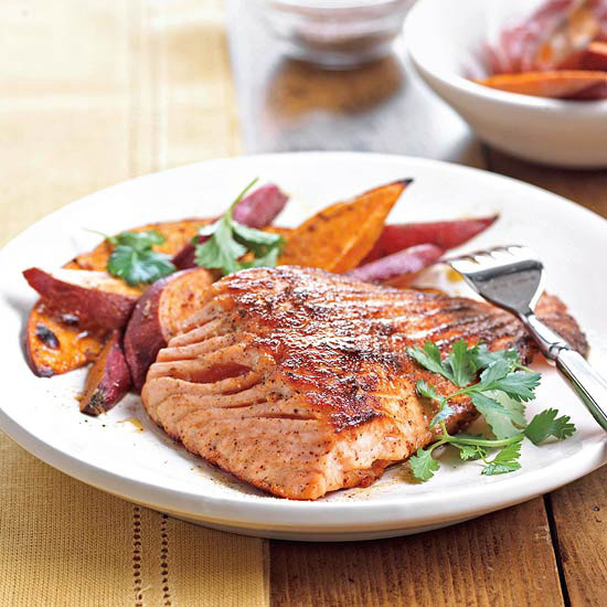 Ancho Grilled Salmon
