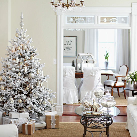 All-White Christmas Color Scheme