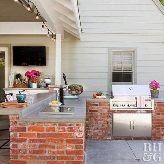 Outdoor Kitchen On A Budget Better Homes Gardens