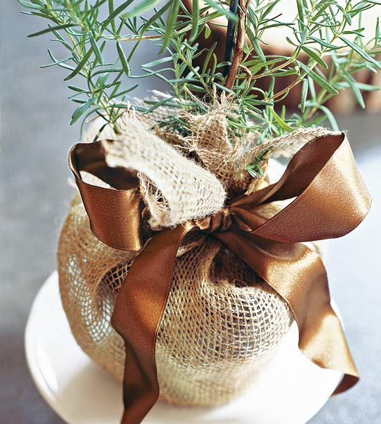 Scented herb party favor