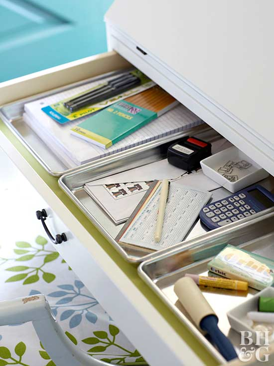 metal drawer organizers for office supplies