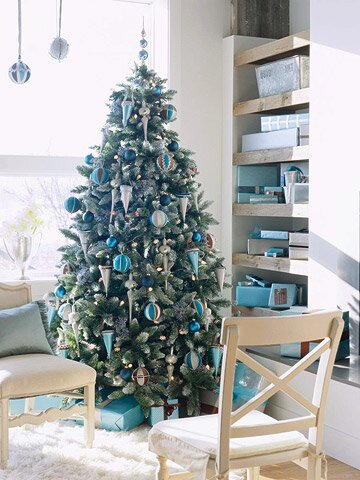 Give Your Home A Sophisticated Lift By Decorating For Christmas With This Chic Color Palette And These Clever Contemporary Ideas