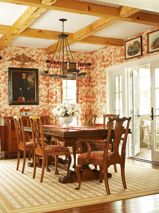 Toile dining room