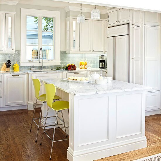 Make a Small Kitchen Look Larger | Better Homes & Gardens Ideas For Long Narrow Kitchen With Black Appliances Remodeling on