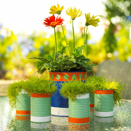 Painted Can Planters