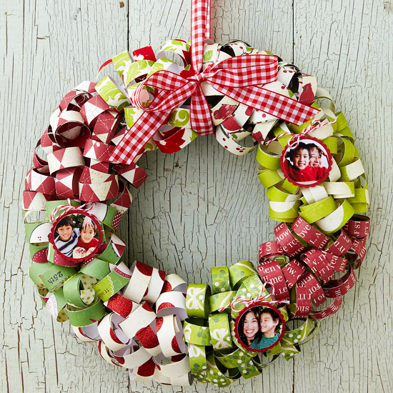 Curled Paper Christmas Wreath
