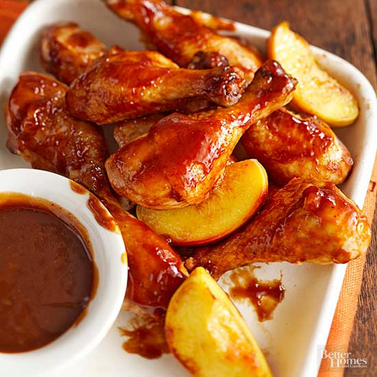 Super Simple Peachy Barbecue Chicken,