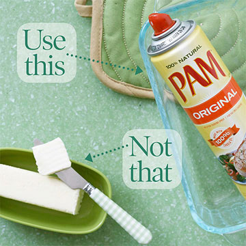 Using Cooking Spray, Not Butter