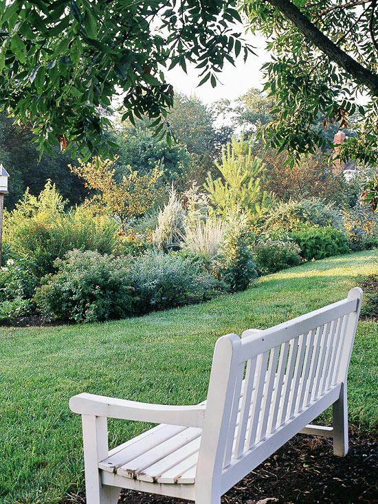 The Many Moods Of Garden Benches Better Homes Gardens