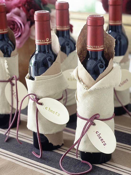 Cheerful Stamped Wine Wraps