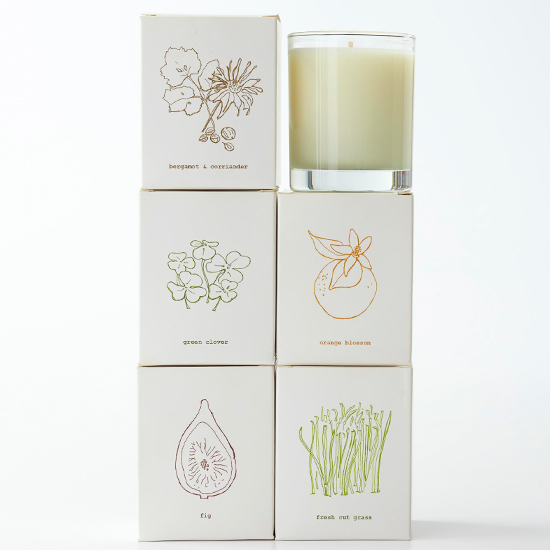 Organic soy candles