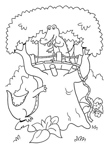 Free Coloring Pages -- Animals