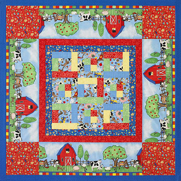 Kid¿s quilt to be used as a mat, playroom quilt