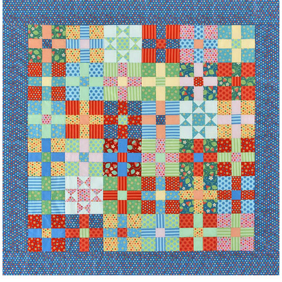 Polka-dot quilting project