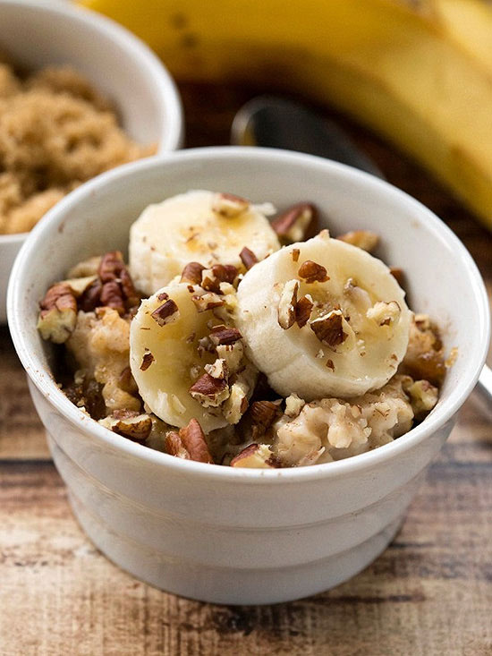 Overnight Crockpot Banana Bread Oatmeal