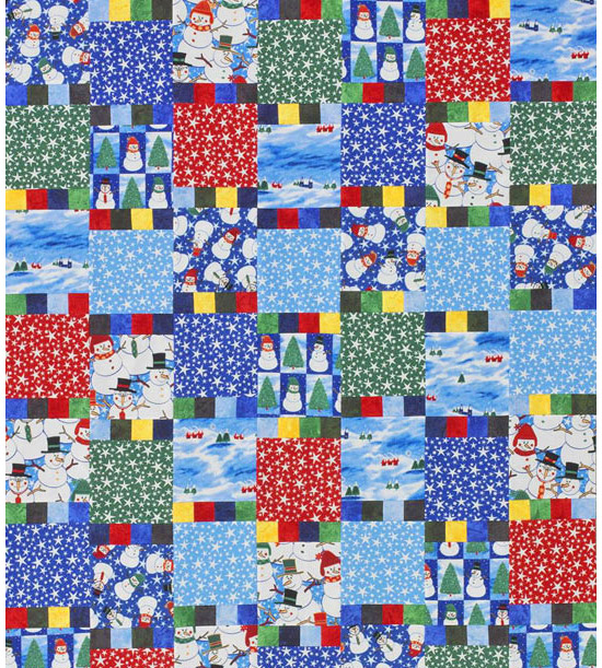 Quilt made from flannel quilting fabrics