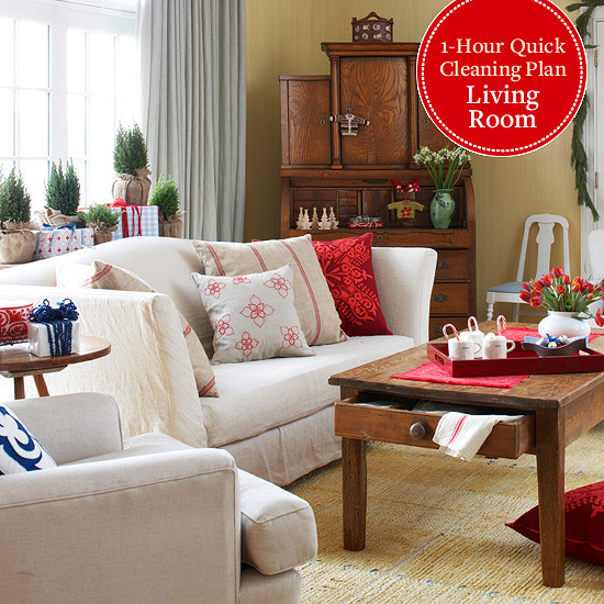 1-Hour Quick Clean Plan: Living Room