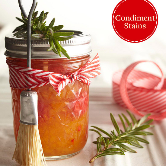 Emergency Housecleaning Guide: Condiment Stains