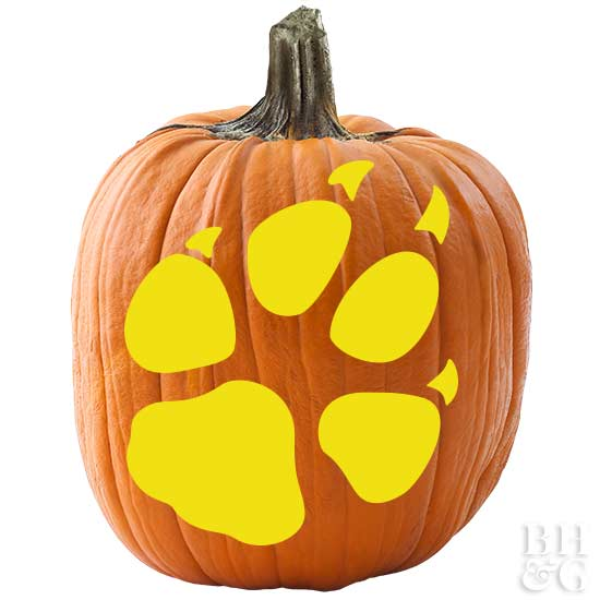 Twilight Paw, BHG.com, Better Homes and Gardens, Twilight, pumpkins, pumpkin carving