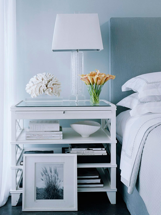 Add Storage with a Bedside Table