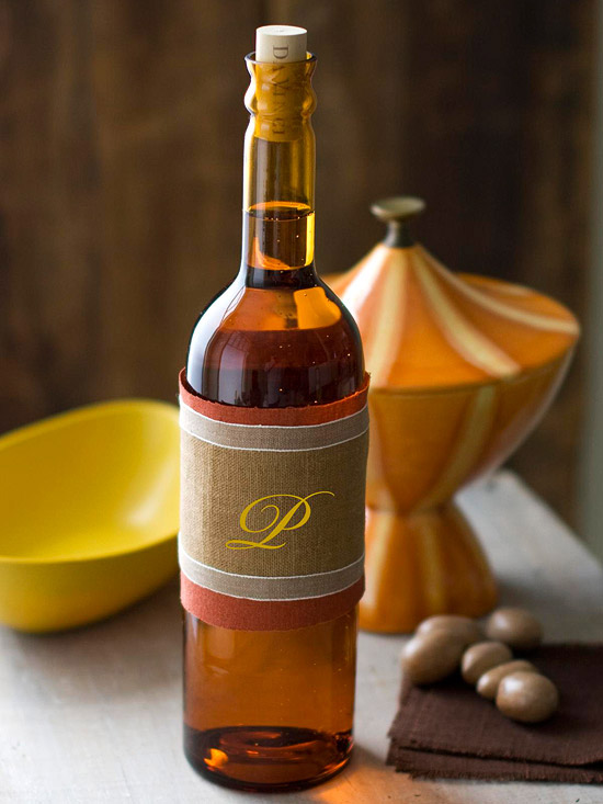 Personalized Fall Wine Wraps