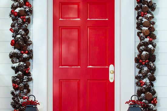 37 Gorgeous Front Door Decorations for Christmas