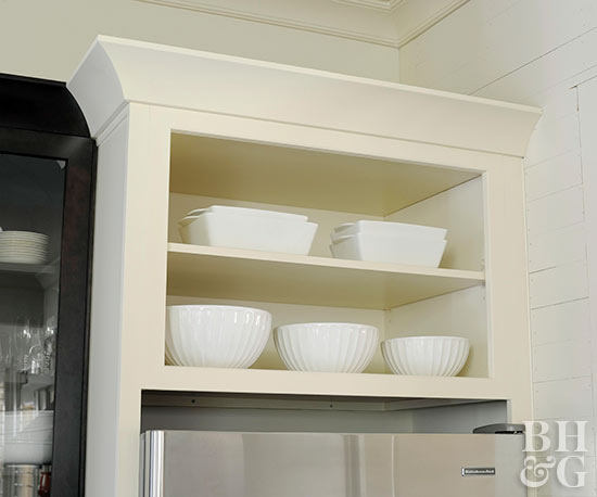 kitchen white shelves white bowls