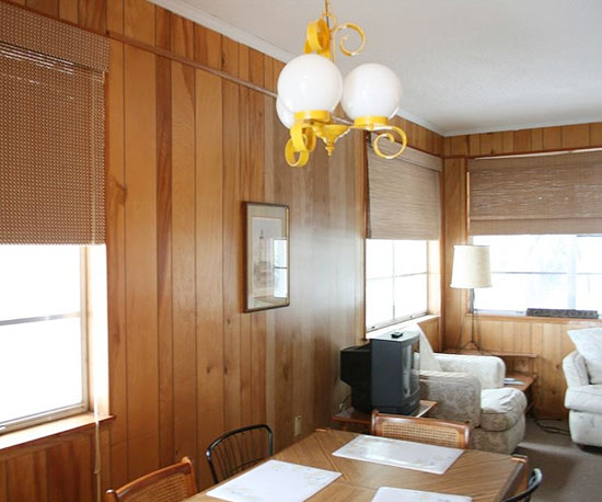wood panneling
