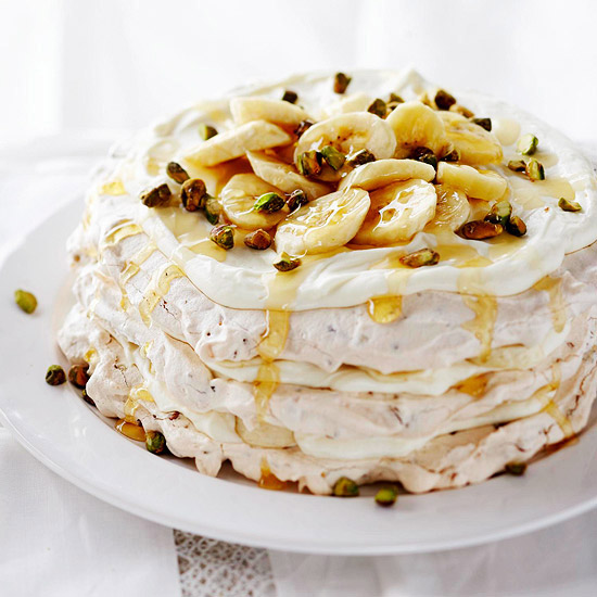 Banana Cream Pavlova Tower