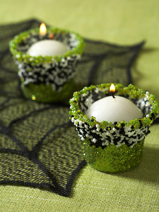 Two Beaded Candle Cups