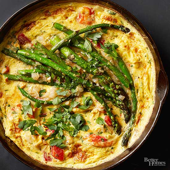 Crab and Asparagus Frittata