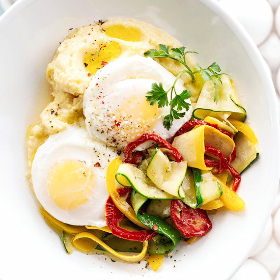 Polenta with Eggs and Zucchini