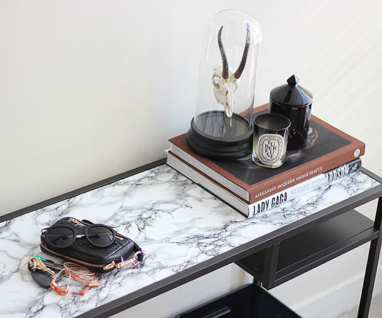 DIY marble console table
