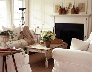 Cottage White with Textured Furnishings