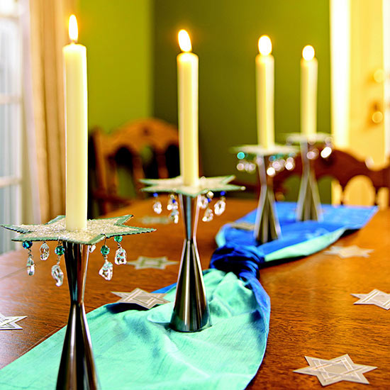 Decorated candle sticks