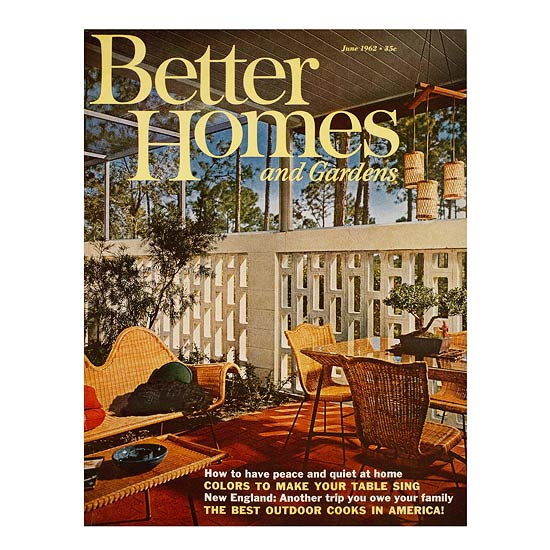 Better Homes and Gardens June 1962 cover