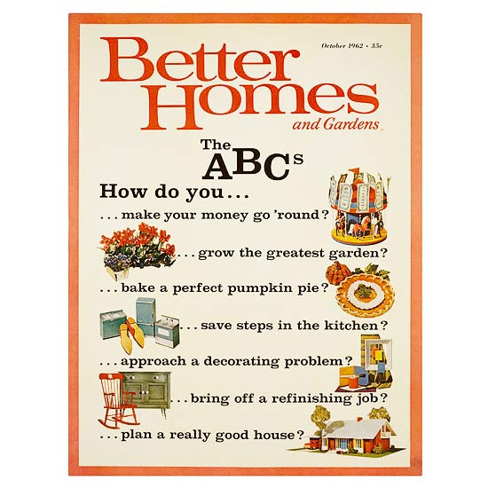 Better Homes and Gardens October 1962 cover