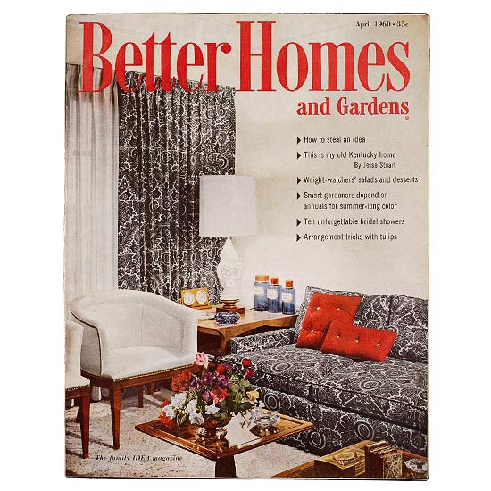 Better Homes and Gardens April 1960 cover